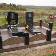 Цоколя, ограды, цветники из гранита_19