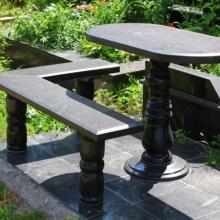 Гранитные столы и лавки_8