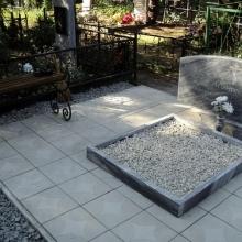 Облицовка могил кафельной плиткой, тротуарной плиткой